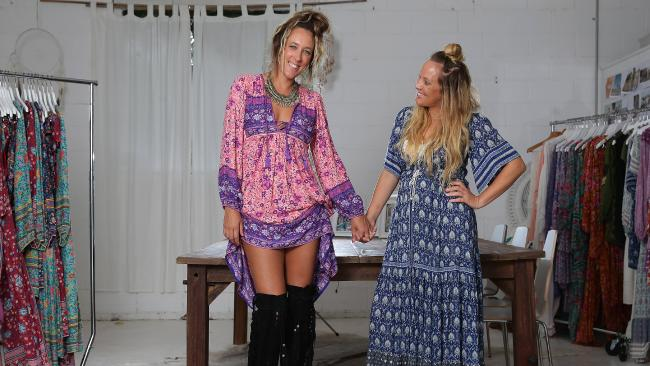 Byron Bay designers Isabella Pennefather and Elizabeth Abegg. Picture: Adam Head