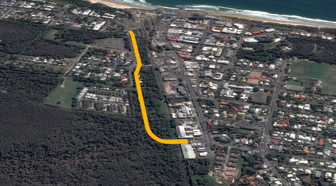 Butler Street bypass route