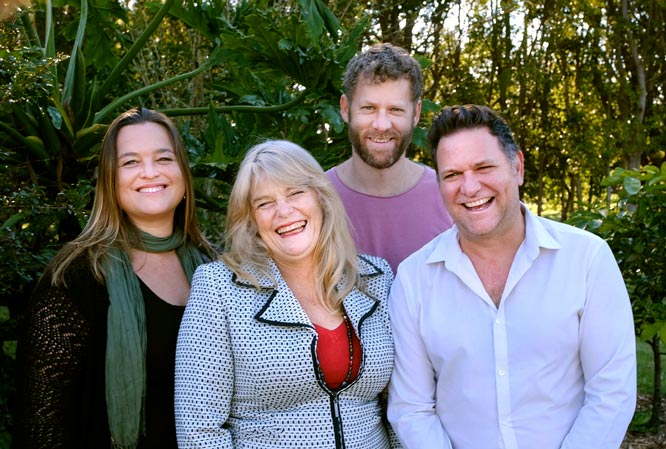 Greens candidates for Byron Shire Council at the upcoming elections, L to R: Sarah Ndiaye, Jeanette Martin, Michael Lyon and current Mayor Simon Richardson. Photo Jeff Dawson