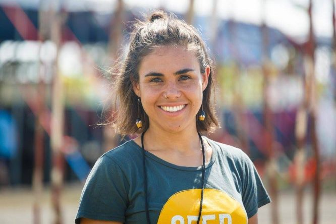 """Amelia """"Millie"""" Telford, Bundjalung National Co-Director, nominated in this year's Cosmopolitan Australia Woman of the Year Awards"""